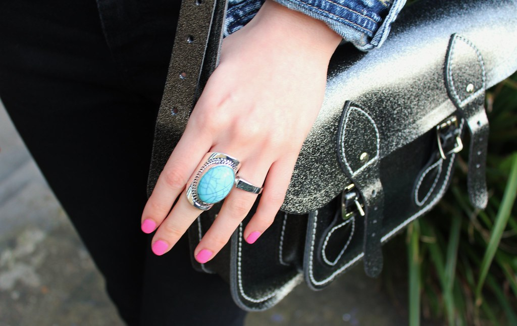 Turquoise Ring and Cambridge Satchel