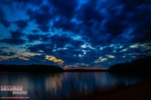 sunset sky lake reflection nature water silhouette clouds georgia lakelanier hallcounty thesussman sonyalphadslra550 sussmanimaging