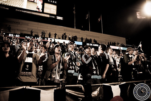 Centennial 38 Supporters Group, Rapids vs RSL Apr 6th 2013 by Corbin Elliott Photography
