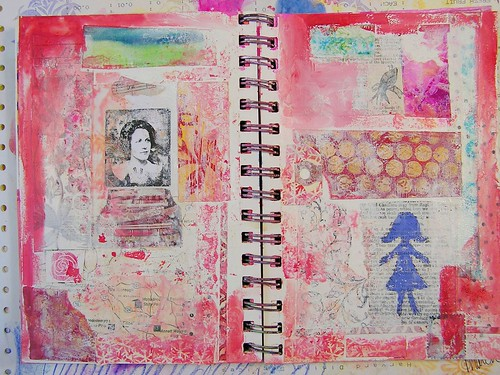 Collage Page in Art Journal, Part 2