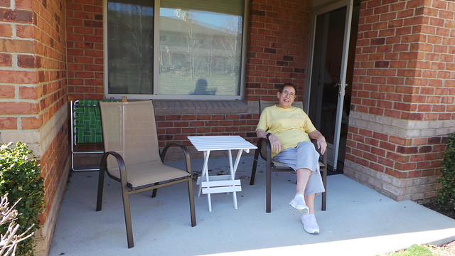 After Chair Shopping With Mom: On the Patio