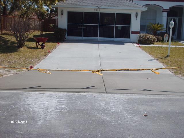 Remove replace concrete driveway flickr photo sharing for Removing concrete driveway