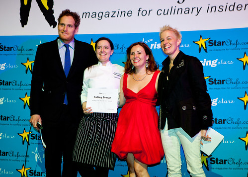 Will Blunt, Chef Ashley Brauze of DB Bistro Moderne, Antoinette Bruno, Elizabeth Faulkner