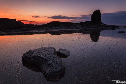 Last Light At Black Nab by Dave Brightwell