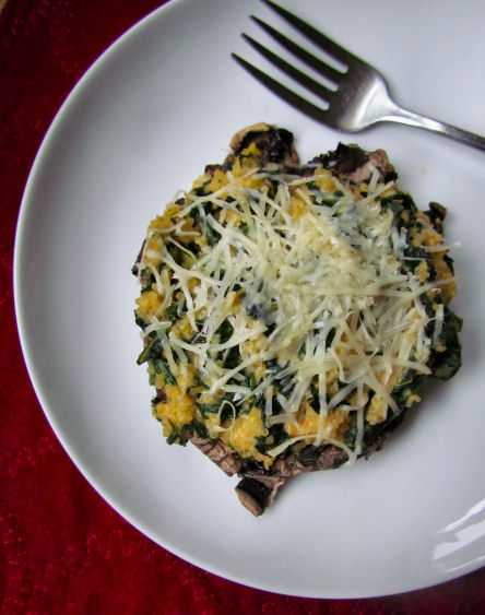 Quinoa and Kale Stuffed Portabella Mushroom