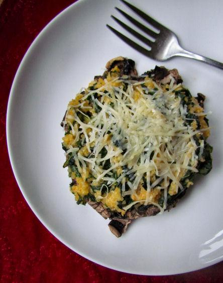 Quinoa and Kale Stuffed Portabella Mushroom