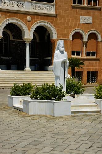 Bildnis vom Staatsgründer von Zypern: Erzbischof Makarios