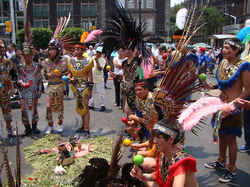 Mexico City ~ Zocalo Dancers by VasenkaPhotography