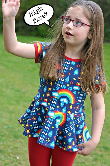 rainbowphant peplum high five