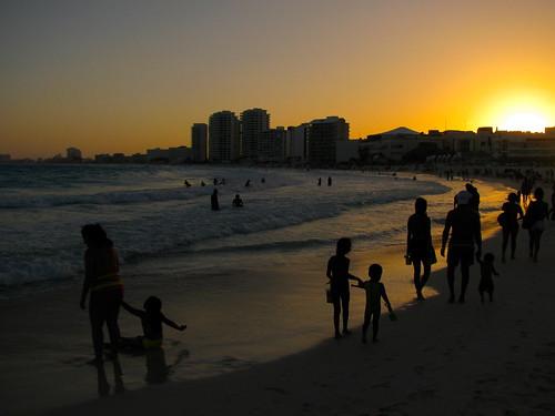 Atardece en Cancún