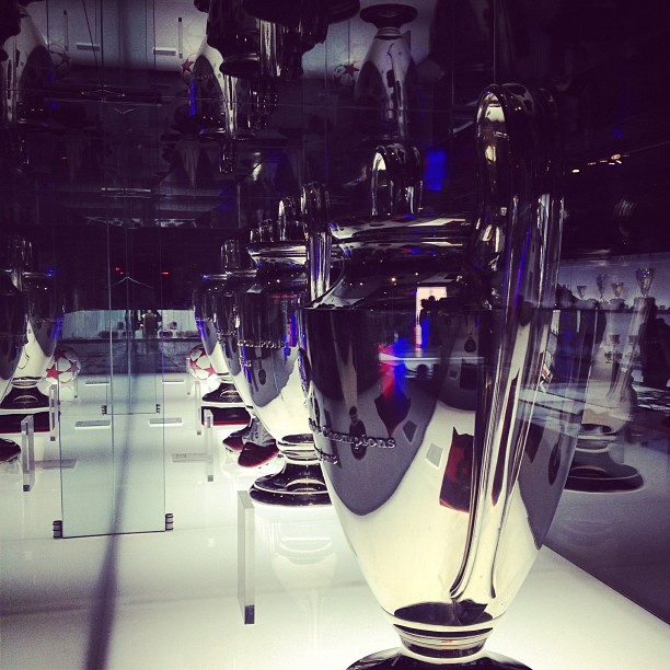 Some of the many, many trophies #barça won #bcn