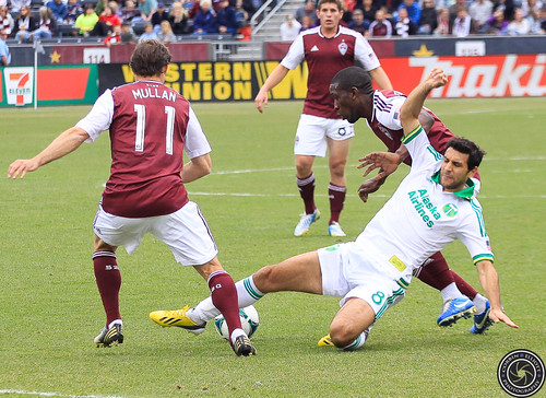 Brian Mullan (Rapids), Hendry Thomas (Rapids), Diego Valeri (Timbers), Colorado Rapids Host Portland Timbers at Dick's Sporting Goods Park Colorado by Corbin Elliott Photography