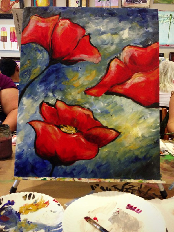Finished Poppies Painting!