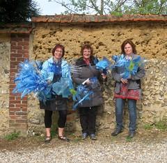 Cathy, Martine, Valérie : Atelier de Doudeauville, fleurs bleues !