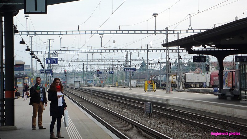 Waiting for the train Solothurn station