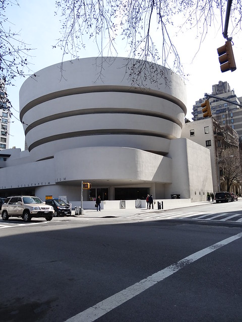 The Guggenheim is arguably the most interesting of the museum buildings along Museum Mile
