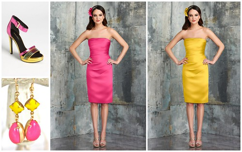 {Hot Pink + Yellow} Bridesmaid's Style Color Inspiration by Nina Renee Designs
