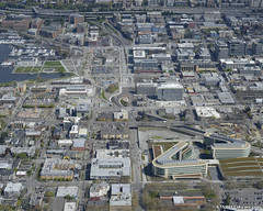 Mercer Corridor Project - aerial photo