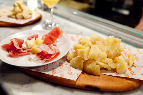 Pecorino Dolce and my plate of Prosciutto di Parma