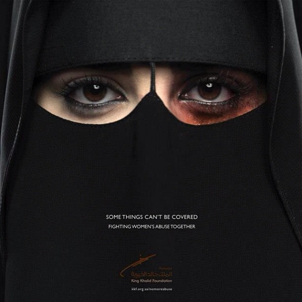 Some things can't be covered. First very powerful official #Saudi #campaign against #women abuse.