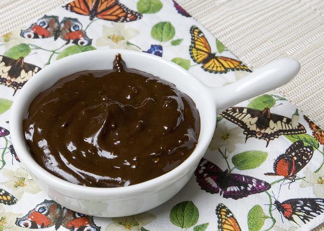 Crema de chocolate con pistachos