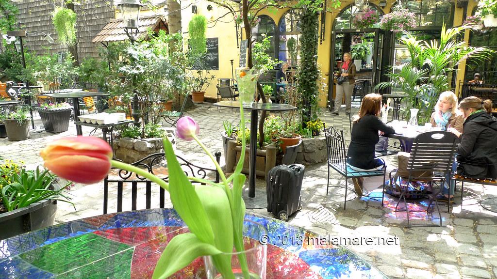 Vienna Kunsthaus Dunkelbunt cafe garden