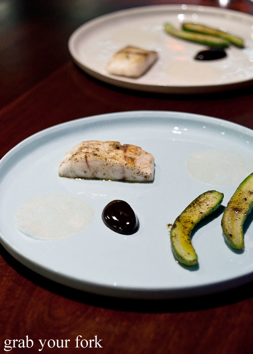 mulloway and black garlic at momofuku seiobo the star sydney
