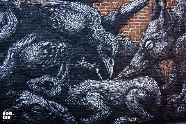 ROA mural in Bethnal Green, London