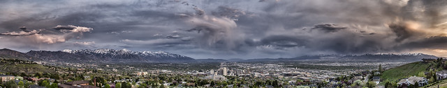 "Week 18 of 52 Theme: ""Weather"" Spring in the Valley - HDR Panorama"