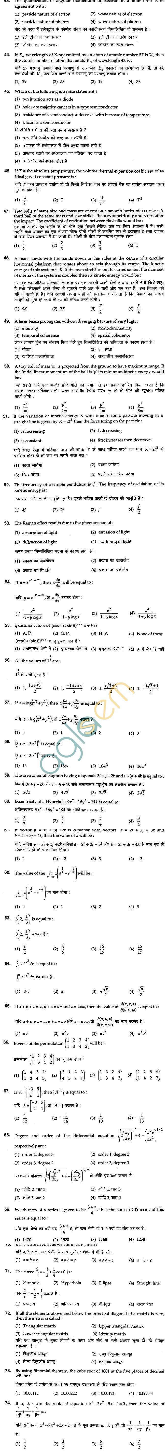 BHU UET 2012 B.A. Social Question Paper