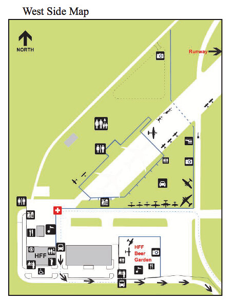 Paine Field Aviation Day Map East