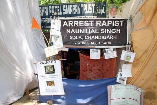 Jagjit Kaur protesting against alleged rape by Police Officer at Jantar mantar-002