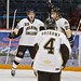 Brody Gibbon celebrates goal with Selkirk (2012-13)