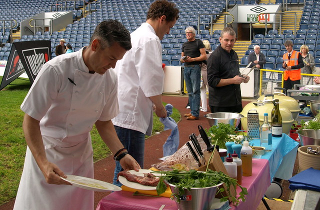 Chef Colin Mcgurran and Valentine Warner BBQ at the show - 1