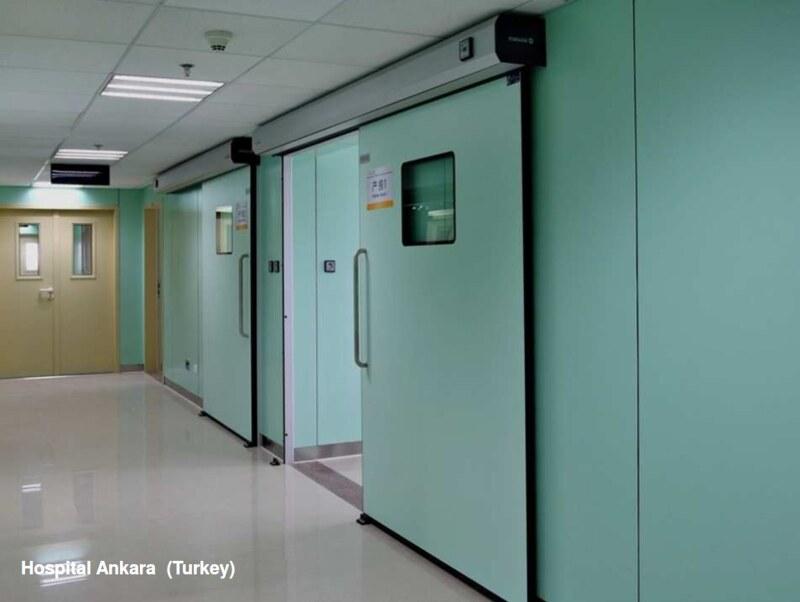 автоматические герметические двери для больниц manusa