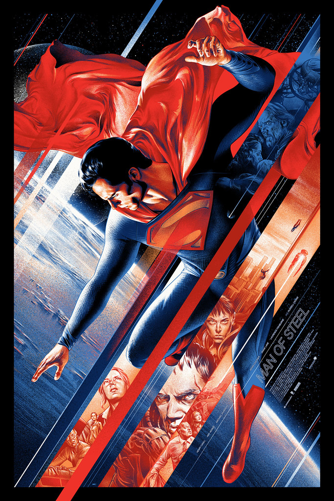 Martin Ansin Man of Steel Poster - Mondo