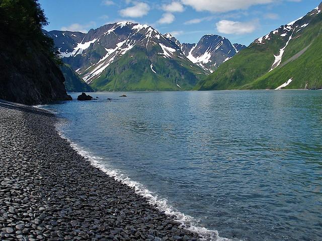 Parque Nacional de los Fiordos de Kenai. Cobble Beach. Alaska