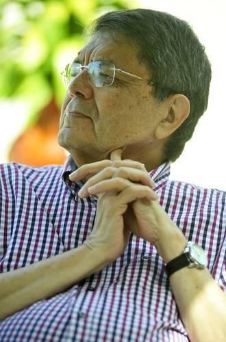 Sergio Ramírez, en 2013, en Xalapa, Veracruz. Foto Sergio Hernández Vega