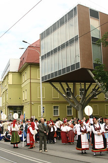 Performers during parade
