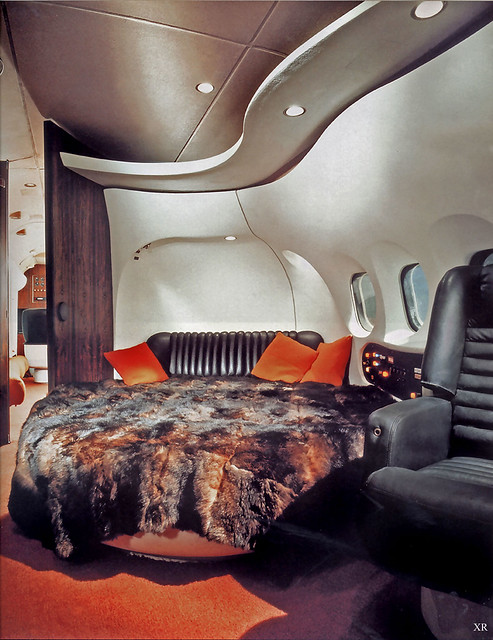 1969 ... interior: Hugh Hefner's private DC-9