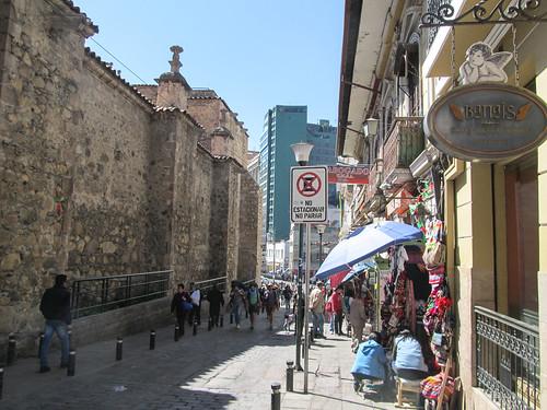 La Paz: notre rue dans le centre historique