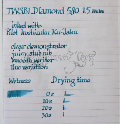 TWSBI Diamond 580 Writing Sample