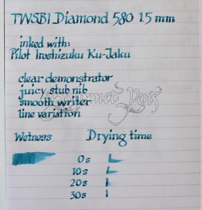 TWSBI Diamond 580 Fountain Pen – Clear
