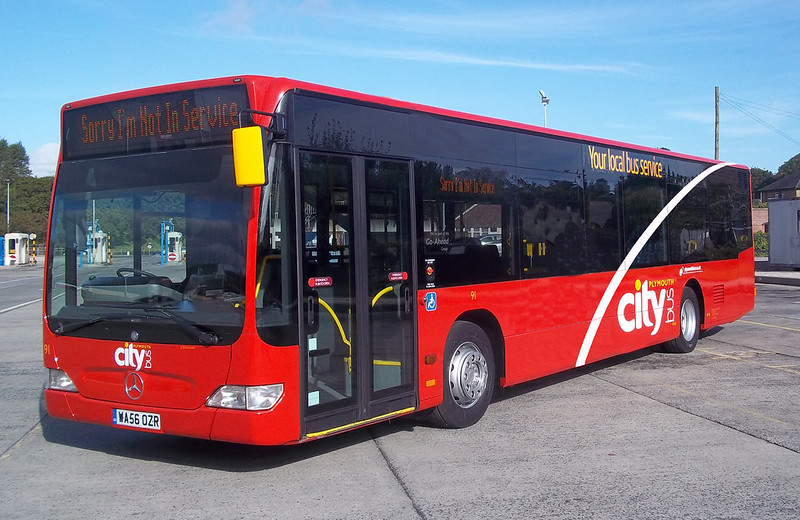 Plymouth Citybus 91 WA56OZR