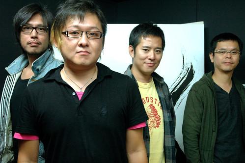 Masayoshi Yokoyama, Hidenori Shoji, Jun Orihara and Kazuki Hosokawa at Sega headquarters