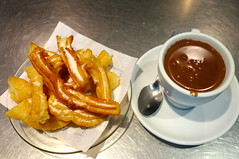 Churros with Thick Hot Chocolate