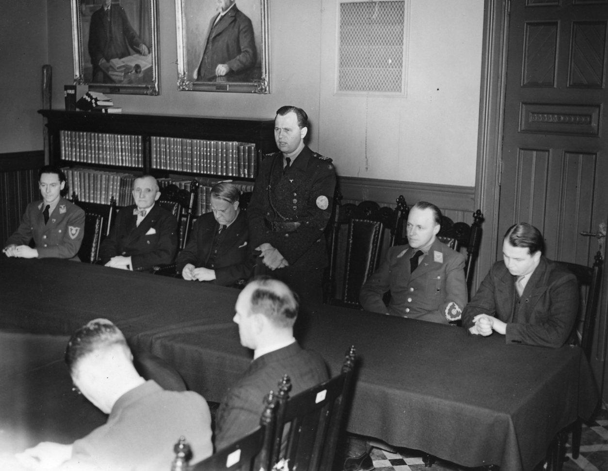 Vidkun Quisling in Drontheim. 1941/11/14-15.