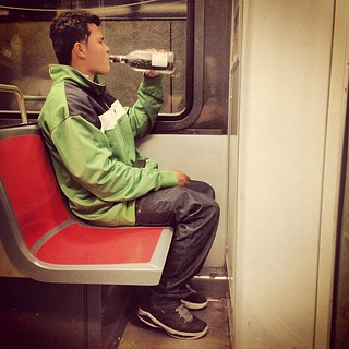 Meanwhile, On Muni: Straight from the Bottle