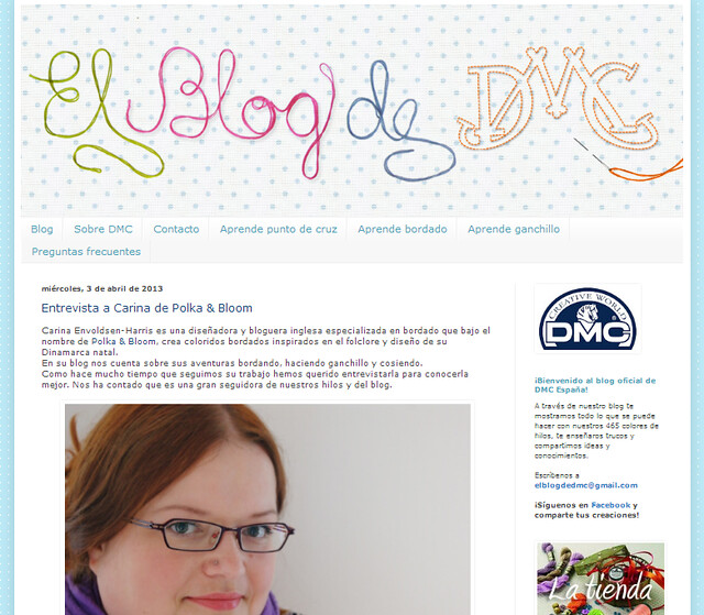 Oh! I was interviewed on the DMC España blog!