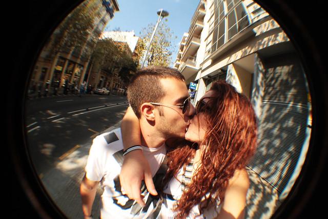 Kiss in Barcelona